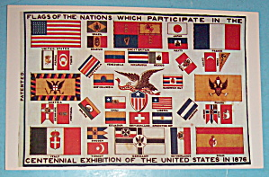 Flags Of The Nations Postcard