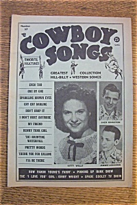 Cowboy Songs Magazine - Kitty Wells - Oct 1954