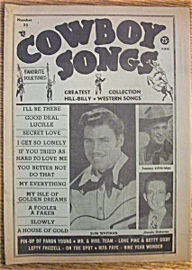 Cowboy Songs Magazine - Slim Whitman - July 1954