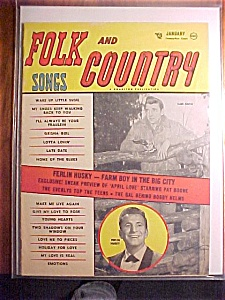 Folk And Country Songs Magazine-january 1958-april Love