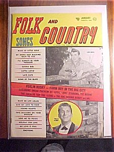Folk & Country Song Magazine-january 1958-ferlin Huskey