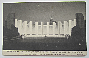 Circular Terrace Hall Of Science, Chicago Expo Postcard