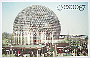 Pavilion Of The United States, Expo 67 Postcard