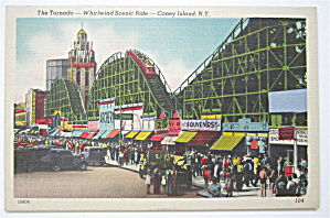 The Tornado, Coney Island, N.y Postcard