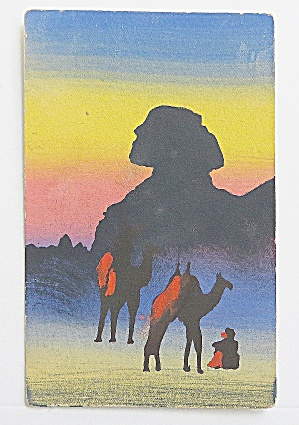 People With Camels Postcard