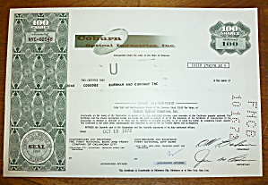 1972 Coburn Industries Inc. Stock Certificate