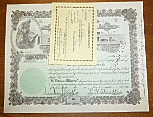 1930 New Jersey Consolidated Mines Co Stock Certificate