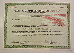 1971 Clark Canadian Exploration Company