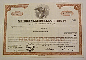 Northern Natural Gas Company Stock Certificate