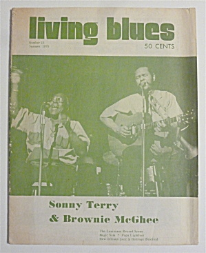 Living Blues Magazine Summer 1973 Sonny & Brownie
