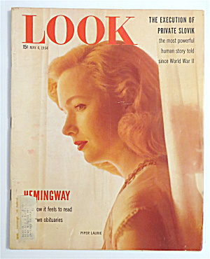 Look Magazine May 4, 1954 Piper Laurie & Hemingway