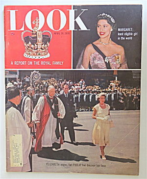 Look Magazine April 19, 1955 Report On Royal Family