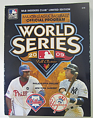 World Series Official Program 2009 Fall Classic