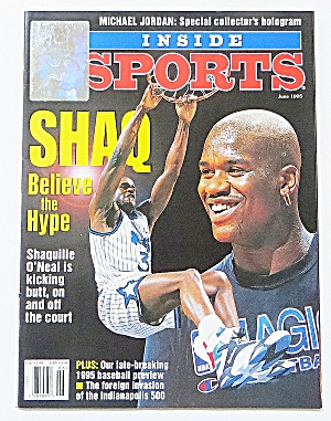 Inside Sports June 1995 Shaquille O'neal