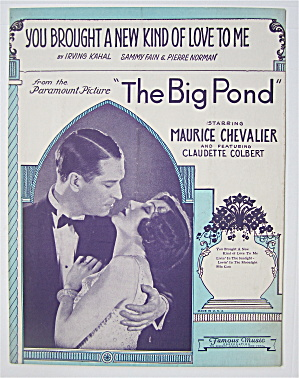 Sheet Music 1930 You Brought A New Kind Of Love To Me