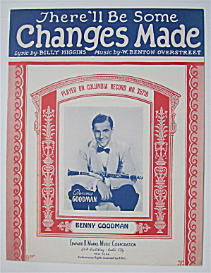 Sheet Music 1932 There'll Be Some Changes Made