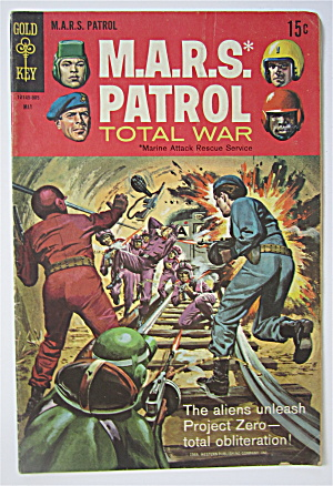 M.a.r.s. Patrol Comic May 1969 Total War
