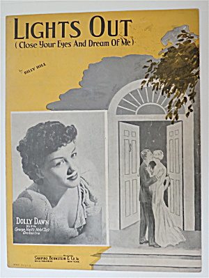 Sheet Music 1935 Lights Out (Close Your Eyes & Dream)
