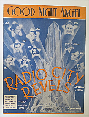 Sheet Music For 1937 Good Night Angel