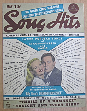 Song Hits Magazine May 1945 Betty Grable & Dick Haymes