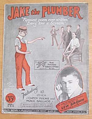 Jake The Plumber 1925 17 Comedy Poems & Mock Ballads