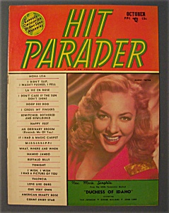 Hit Parader Magazine - October 1950 - Audrey Totter