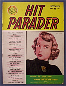 Hit Parader Magazine - Dec 1951 - Terry Moore Cover