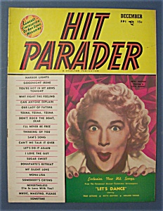 Hit Parader Magazine - Dec 1950 - Betty Hutton Cover