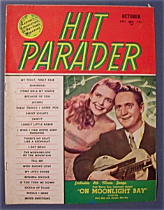 Hit Parader - Oct 1951 - Les Paul/mary Ford Cover