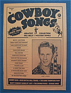 Cowboy Songs Magazine - July 1959 - Chet Atkins Cover