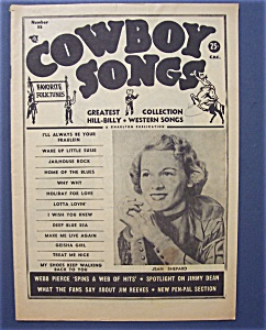 Cowboy Songs- March 1958 -jean Shepard