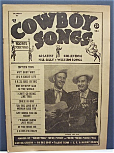 Cowboy Songs Magazine - March 1956 - Johnnie & Jack