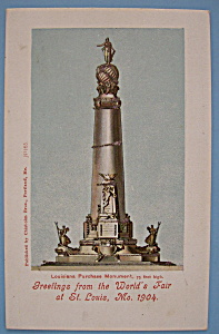 Louisiana Purchase Monument Postcard-lewis & Clark Expo