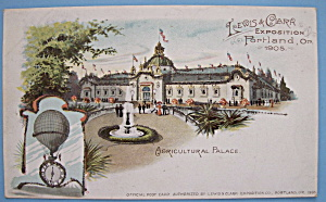 Agricultural Palace Postcard (1905 Lewis & Clark Expo)