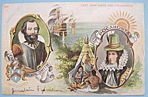John Smith & Pocahontas Postcard (1907 Jamestown Expo)