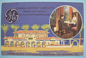 1915 Pan Pacific Exposition General Electric Postcard