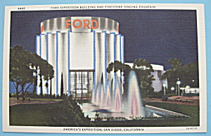 1935 California Pacific Expo Ford Building Postcard