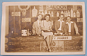 Riverview Park Pic Postcard Of People In Saloon Scene