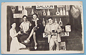 People In Saloon Backdrop (Riverview Park Pic Postcard)