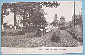 Miniature Railroad Picture Postcard (Riverview Park)