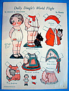 Dolly Dingle Paper Doll - March 1933 - In Russia