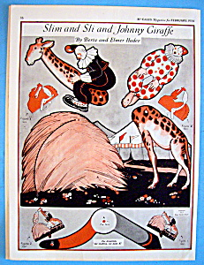 Slim & Sli, The Circus Clown Paper Doll - February 1924