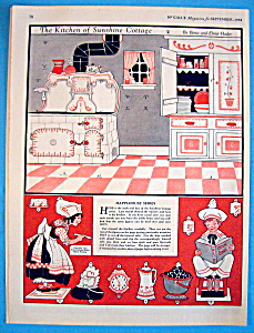 The Kitchen Of Sunshine Cottage Cut Out/september 1924