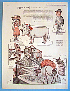 Nipper In Italy Paper Doll - April 1925