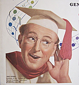 Vintage Ad: 1947 General Electric Radio W/kay Kyser