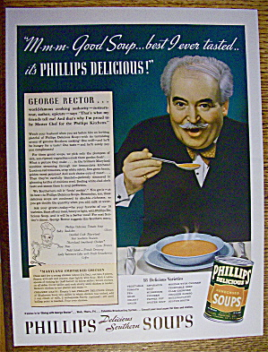 1937 Phillips Soups With Dining With George Rector