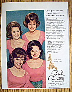 Vintage Ad: 1965 Sarah Coventry W/ The Lennon Sisters