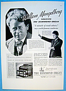 Vintage Ad: 1937 Hammond Organ With Willem Mengelberg