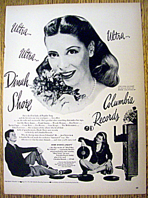 1946 Columbia Records With Dinah Shore