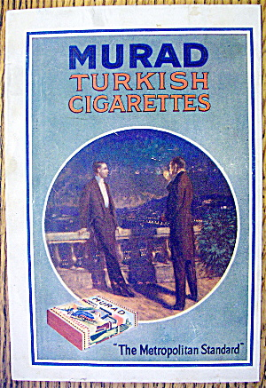 1913 Murad Turkish Cigarettes With Two Men